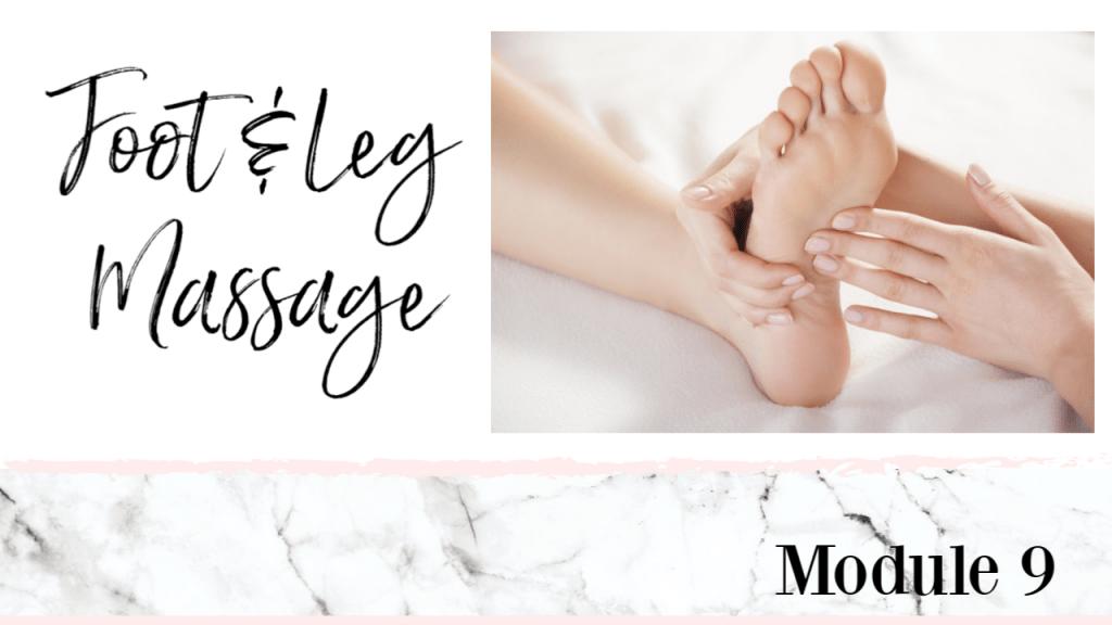 meticulous manicurist foot and leg massage online class course workshop