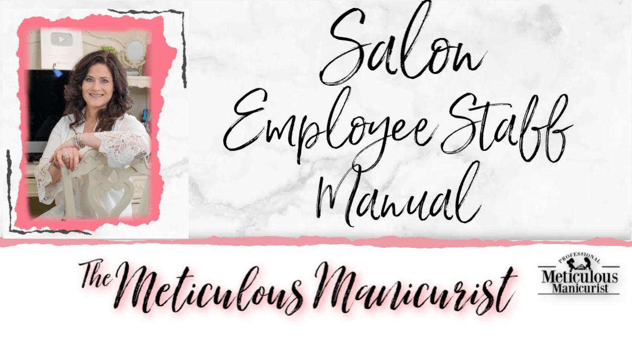salon staff manual guide workbook handbook